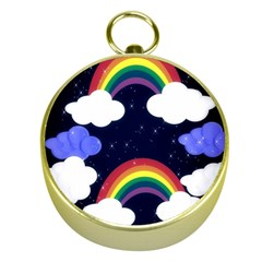 Rainbow Animation Gold Compasses