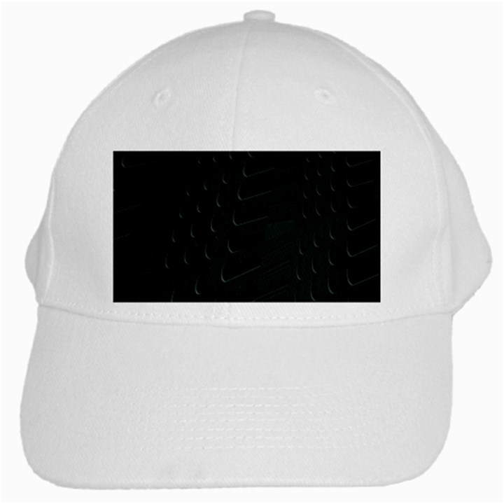 Abstract Clutter White Cap
