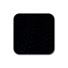 Abstract Clutter Rubber Square Coaster (4 Pack)  by Nexatart