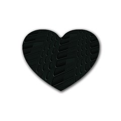 Abstract Clutter Rubber Coaster (heart)  by Nexatart