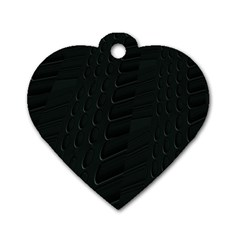 Abstract Clutter Dog Tag Heart (two Sides)