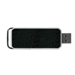 Abstract Clutter Portable Usb Flash (two Sides) by Nexatart