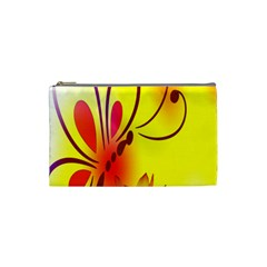 Butterfly Background Wallpaper Texture Cosmetic Bag (small)