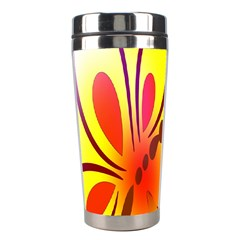 Butterfly Background Wallpaper Texture Stainless Steel Travel Tumblers by Nexatart