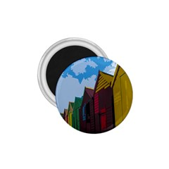 Brightly Colored Dressing Huts 1 75  Magnets by Nexatart