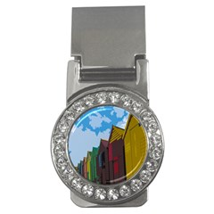 Brightly Colored Dressing Huts Money Clips (cz)  by Nexatart