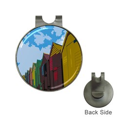 Brightly Colored Dressing Huts Hat Clips With Golf Markers by Nexatart
