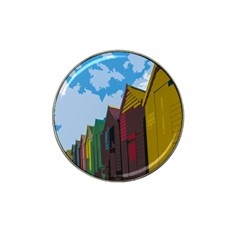 Brightly Colored Dressing Huts Hat Clip Ball Marker (10 Pack) by Nexatart