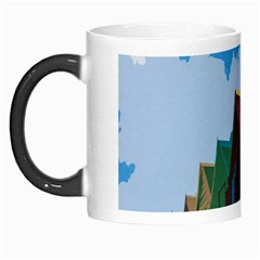 Brightly Colored Dressing Huts Morph Mugs by Nexatart