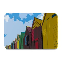 Brightly Colored Dressing Huts Plate Mats by Nexatart
