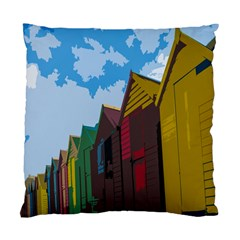 Brightly Colored Dressing Huts Standard Cushion Case (two Sides) by Nexatart