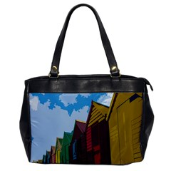 Brightly Colored Dressing Huts Office Handbags by Nexatart