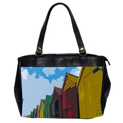 Brightly Colored Dressing Huts Office Handbags (2 Sides)