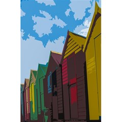 Brightly Colored Dressing Huts 5 5  X 8 5  Notebooks by Nexatart