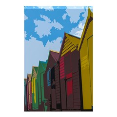 Brightly Colored Dressing Huts Shower Curtain 48  X 72  (small)  by Nexatart
