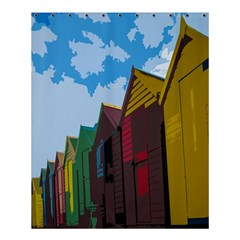 Brightly Colored Dressing Huts Shower Curtain 60  X 72  (medium)  by Nexatart