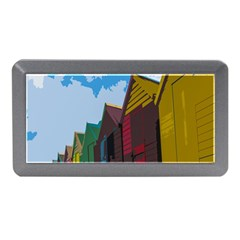 Brightly Colored Dressing Huts Memory Card Reader (mini) by Nexatart