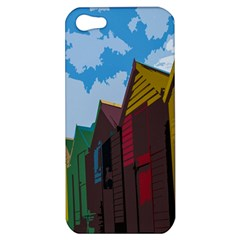 Brightly Colored Dressing Huts Apple Iphone 5 Hardshell Case by Nexatart