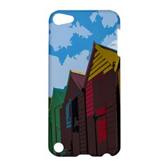 Brightly Colored Dressing Huts Apple Ipod Touch 5 Hardshell Case by Nexatart