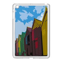 Brightly Colored Dressing Huts Apple Ipad Mini Case (white) by Nexatart