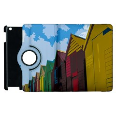 Brightly Colored Dressing Huts Apple Ipad 3/4 Flip 360 Case by Nexatart