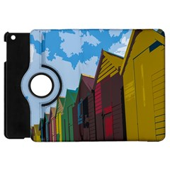 Brightly Colored Dressing Huts Apple Ipad Mini Flip 360 Case by Nexatart
