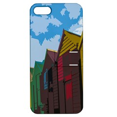 Brightly Colored Dressing Huts Apple Iphone 5 Hardshell Case With Stand by Nexatart