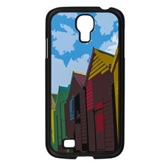 Brightly Colored Dressing Huts Samsung Galaxy S4 I9500/ I9505 Case (black) by Nexatart