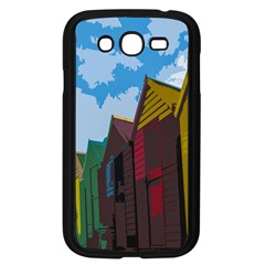 Brightly Colored Dressing Huts Samsung Galaxy Grand Duos I9082 Case (black) by Nexatart