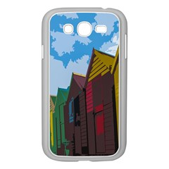 Brightly Colored Dressing Huts Samsung Galaxy Grand Duos I9082 Case (white) by Nexatart