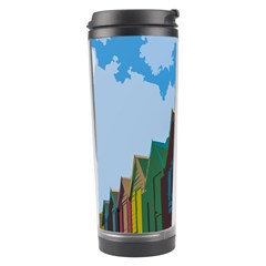 Brightly Colored Dressing Huts Travel Tumbler