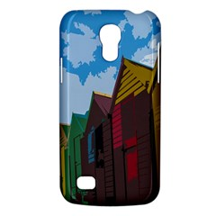 Brightly Colored Dressing Huts Galaxy S4 Mini by Nexatart