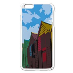 Brightly Colored Dressing Huts Apple Iphone 6 Plus/6s Plus Enamel White Case by Nexatart