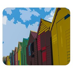 Brightly Colored Dressing Huts Double Sided Flano Blanket (small)  by Nexatart