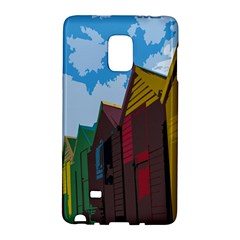 Brightly Colored Dressing Huts Galaxy Note Edge by Nexatart