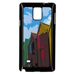 Brightly Colored Dressing Huts Samsung Galaxy Note 4 Case (black)