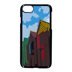 Brightly Colored Dressing Huts Apple Iphone 7 Seamless Case (black) by Nexatart