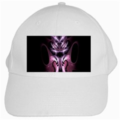 Angry Mantis Fractal In Shades Of Purple White Cap by Nexatart