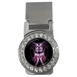 Angry Mantis Fractal In Shades Of Purple Money Clips (CZ)  Front