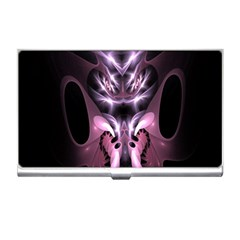 Angry Mantis Fractal In Shades Of Purple Business Card Holders by Nexatart