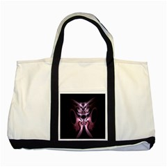 Angry Mantis Fractal In Shades Of Purple Two Tone Tote Bag