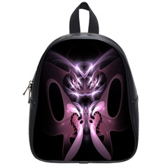 Angry Mantis Fractal In Shades Of Purple School Bags (small)