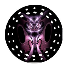 Angry Mantis Fractal In Shades Of Purple Round Filigree Ornament (two Sides) by Nexatart