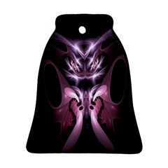 Angry Mantis Fractal In Shades Of Purple Bell Ornament (two Sides) by Nexatart