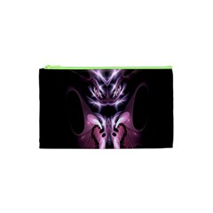 Angry Mantis Fractal In Shades Of Purple Cosmetic Bag (xs)