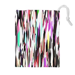 Randomized Colors Background Wallpaper Drawstring Pouches (extra Large) by Nexatart