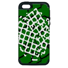 Abstract Clutter Apple Iphone 5 Hardshell Case (pc+silicone) by Nexatart