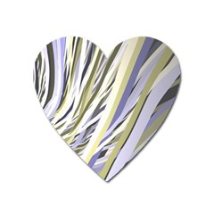 Wavy Ribbons Background Wallpaper Heart Magnet