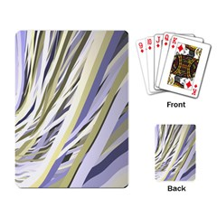 Wavy Ribbons Background Wallpaper Playing Card by Nexatart