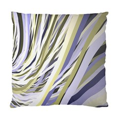 Wavy Ribbons Background Wallpaper Standard Cushion Case (one Side) by Nexatart